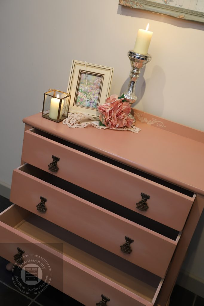 Upcycled utility chest of drawers