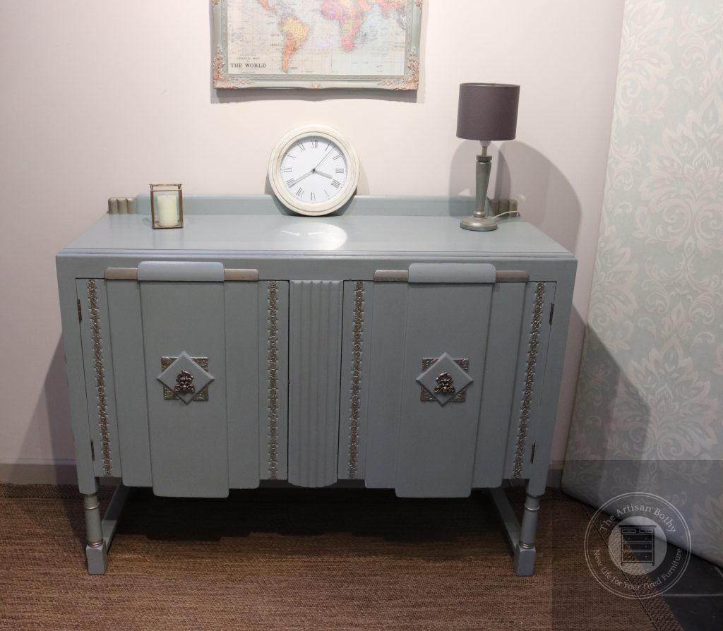 Flipped Scotch Mist painted sideboard