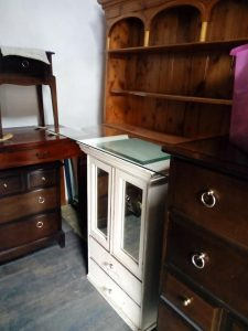 A welsh dresser in a room waiting to be upcycled