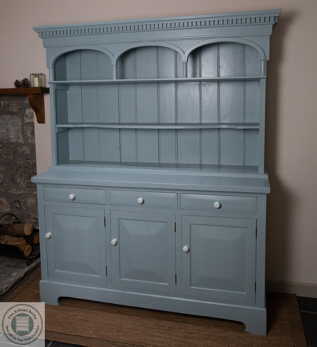 A painted welsh dresser