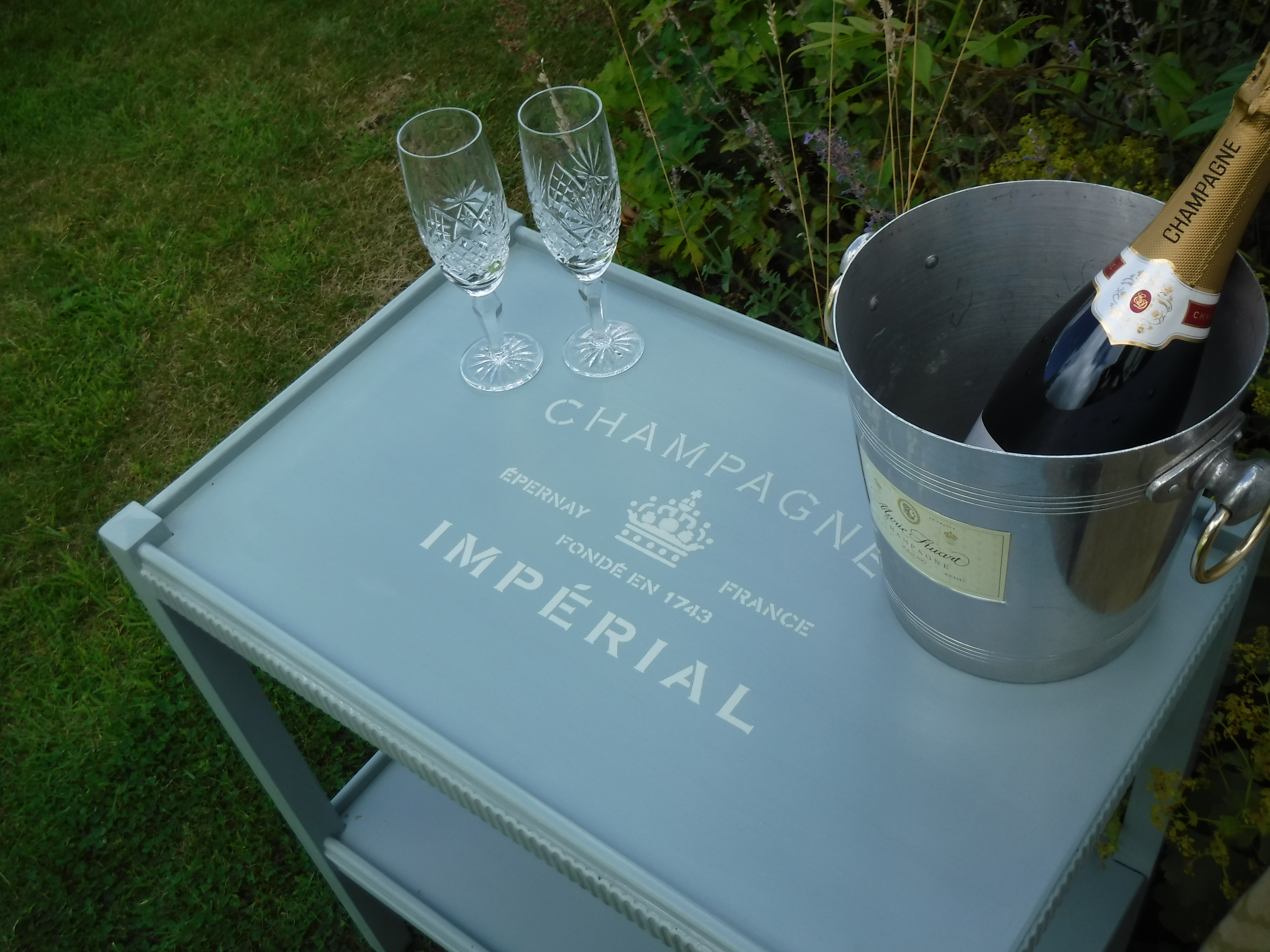 Upcycled Victorian Tea Trolley