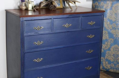 Painted antique chest of drawers