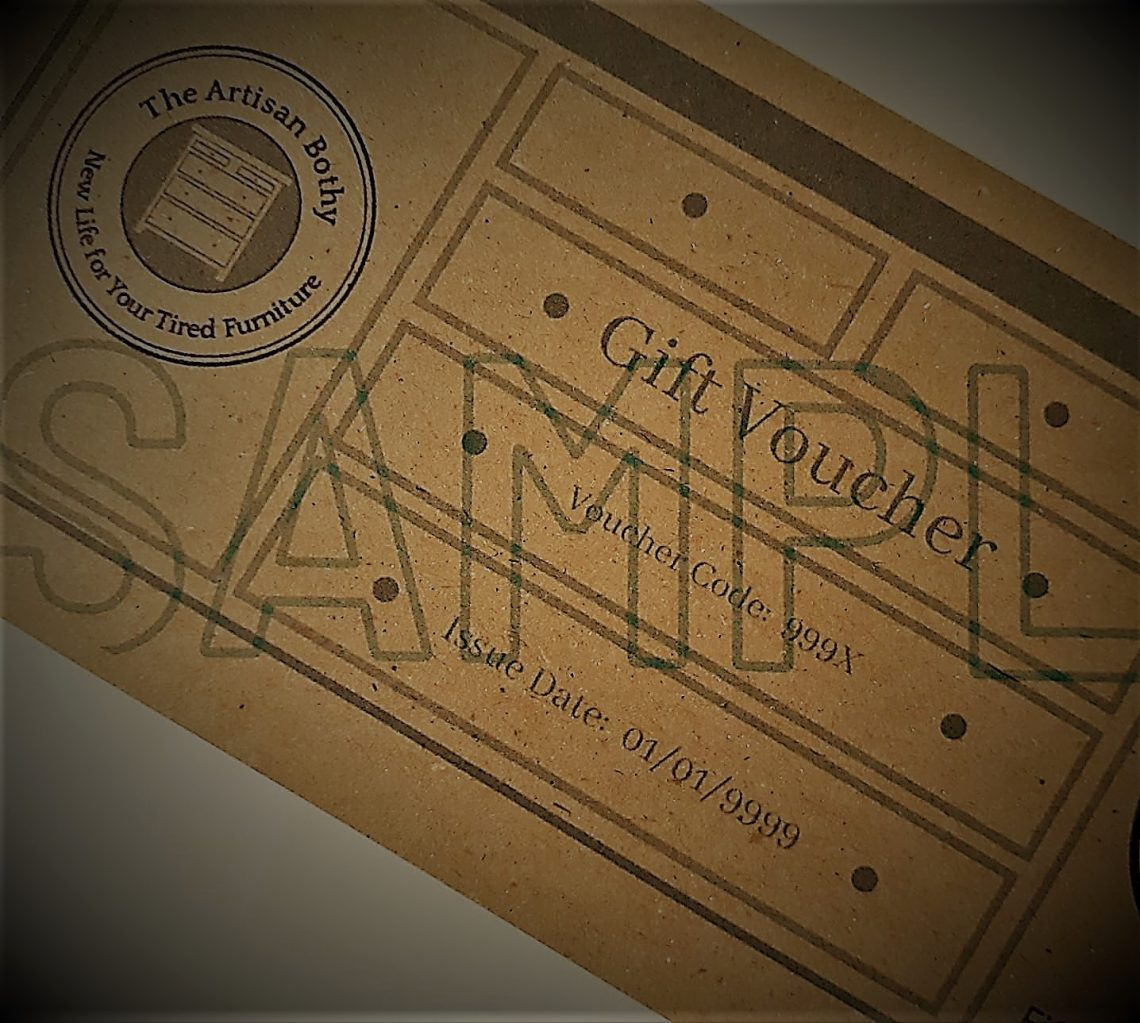 picture of an Artisan Bothy gift voucher sample